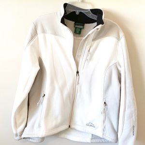LlBean White/Light Grey Jacket 🧥